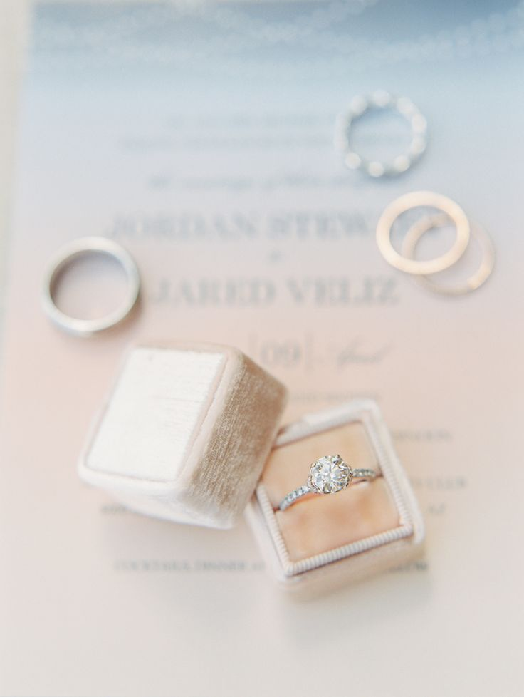 Ring of your dreams! In a beautiful ring box by The Mrs Box. Photography : Rache...