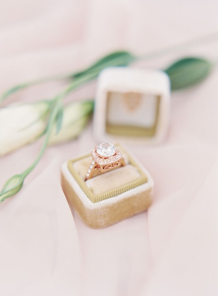 Rose gold engagement ring: Photography : Sposto Photography | Jewelry : Petals A...