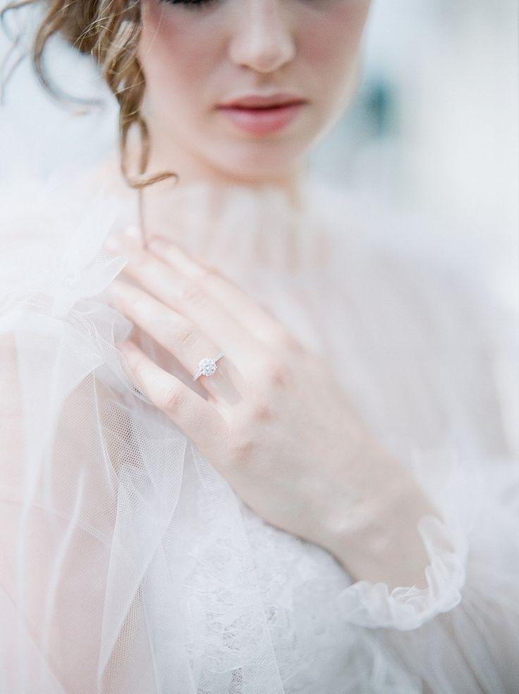 Round-cut diamond ring: Photography: Julie Paisley - www.juliepaisley.com   Read...