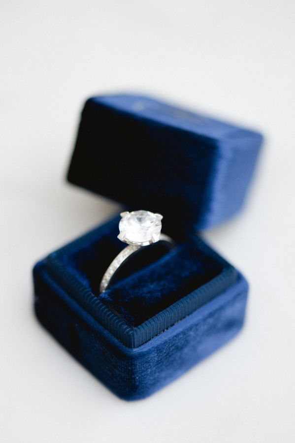 Round-cut diamond ring that is a true stunner: www.stylemepretty... Photography:...