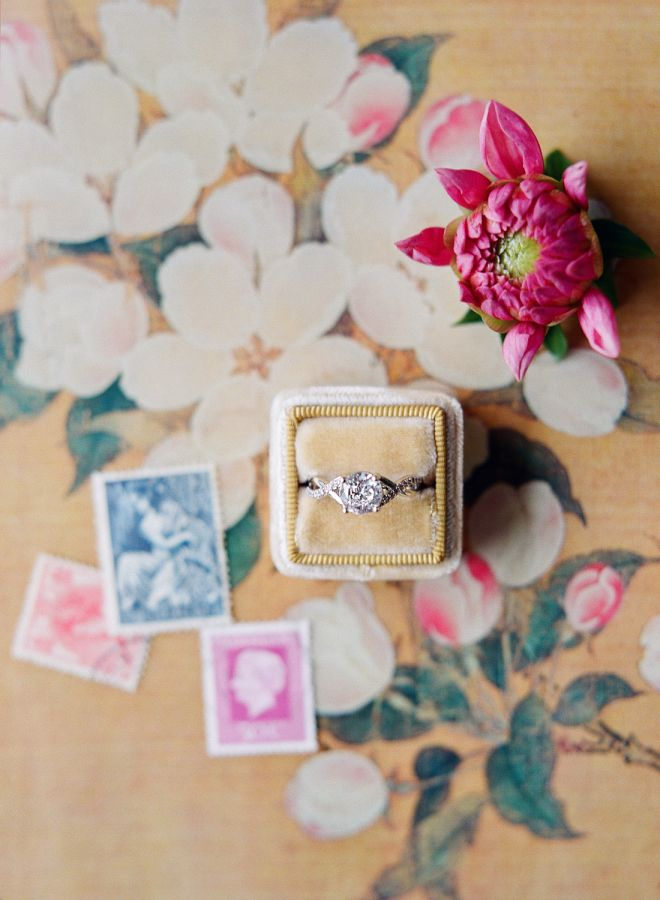 Round-cut diamond ring with intertwined band: www.stylemepretty... Photography: ...