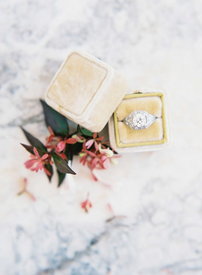 Round-cut diamond ring: www.stylemepretty... Photography: Kayla Barker - www.kay...