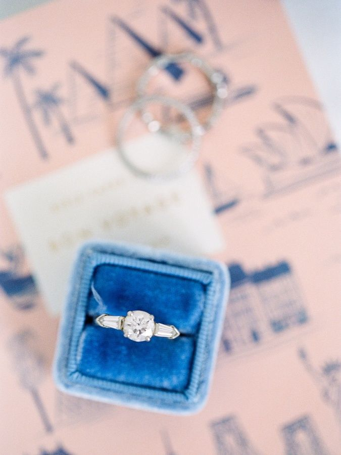 Round cut engagement ring: www.stylemepretty... Photography: Anna Routh - annaro...