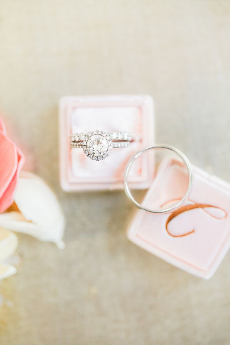 Round-cut halo setting diamond ring: Photography: Kelsey Combe Photography - kel...