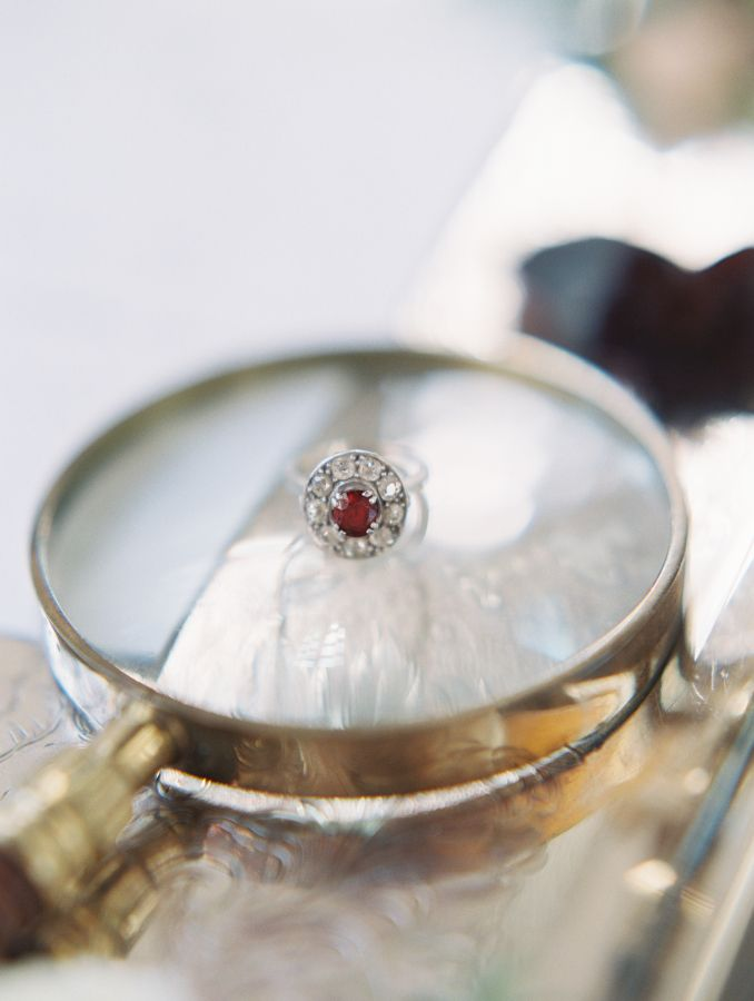 Ruby red engagement ring: www.stylemepretty... Photography: Allen Tsai - allents...