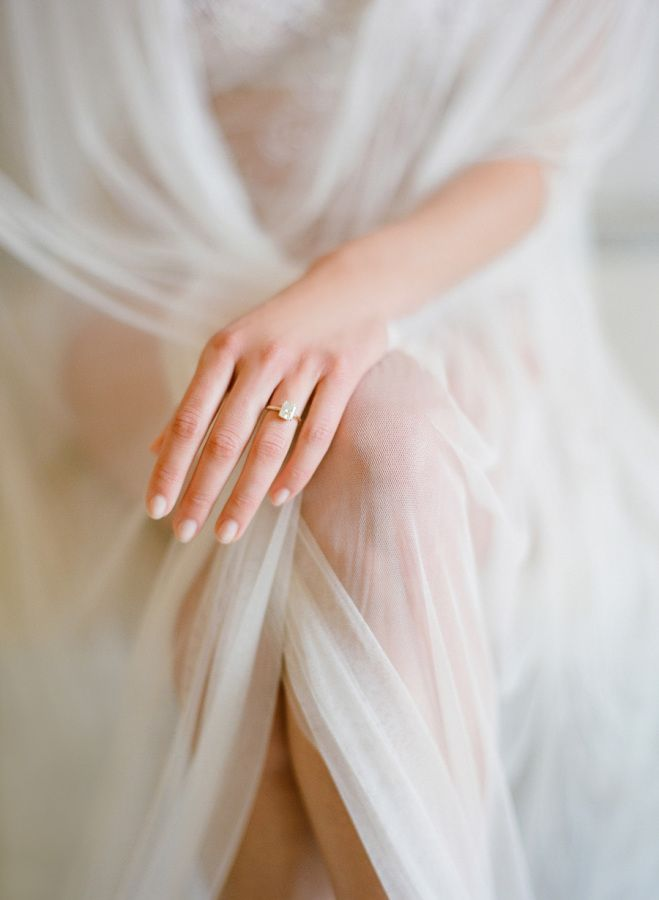 Simple elegant diamond ring: www.stylemepretty... Photography: Jose Villa - jose...