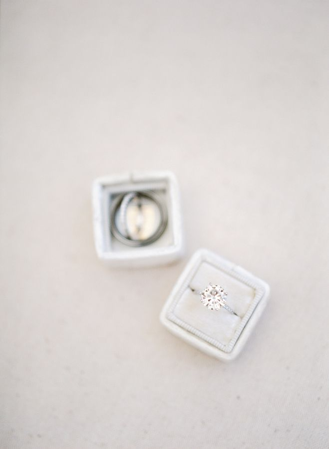 Simplistic round-cut diamond ring: www.stylemepretty... Photography: Hello Blue ...