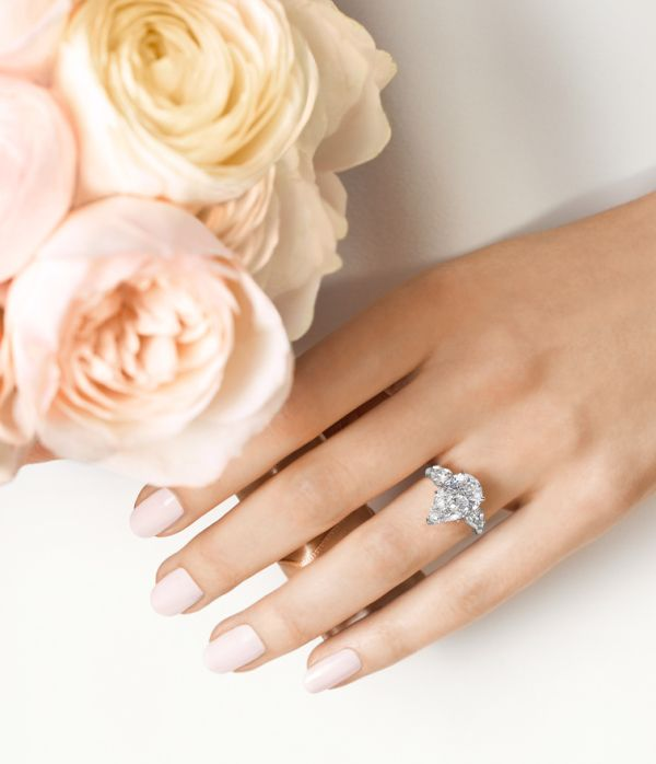 Simply put, this Harry Winston engagement ring is perfection! www.stylemepretty....