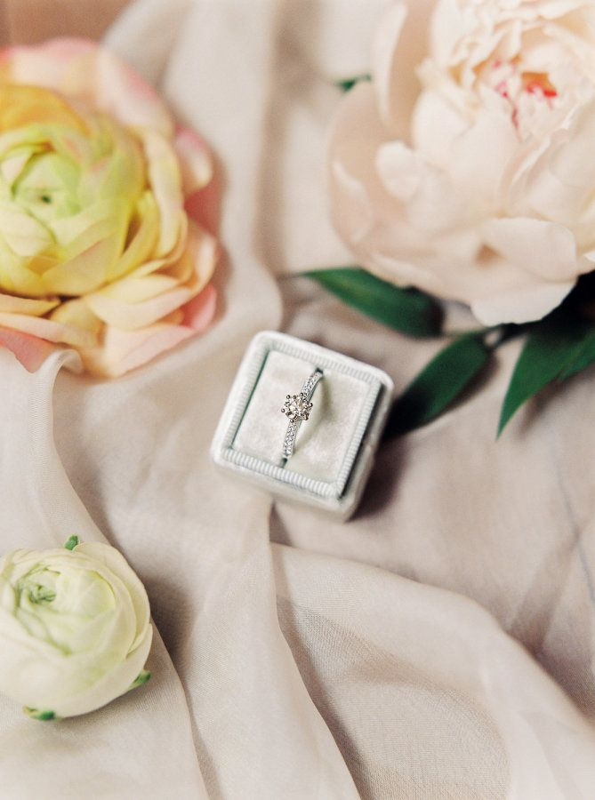 Stunning circle-cut engagement ring: www.stylemepretty... Photography: Melanie N...