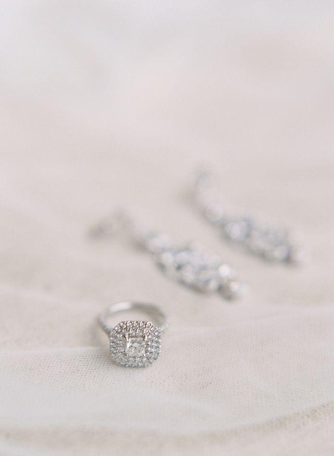 Stunning double halo engagement ring: www.stylemepretty... | Photography: Elena ...