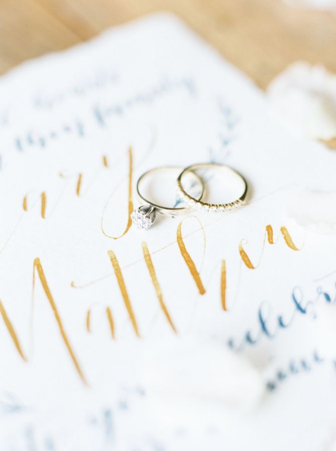 Stunning minimalistic diamond ring: www.stylemepretty... Photography: Cody  Hunt...