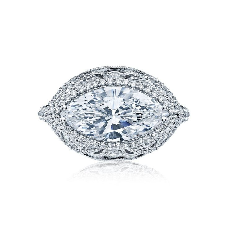 Tacori RoyalT Style HT2612MQ16X8 engagement ring: www.stylemepretty...
