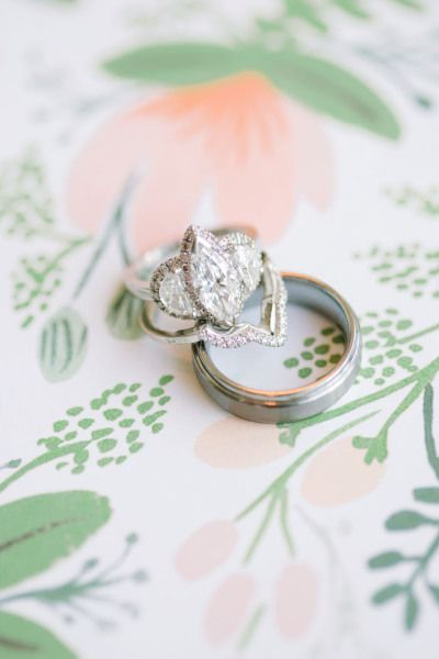 Three diamond engagement ring: www.stylemepretty... Photography: This Love of Yo...