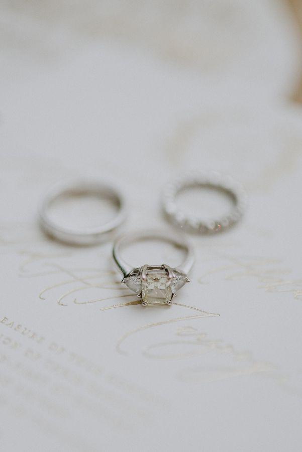 Triple diamond ring: www.stylemepretty... Photography: Gianluca Adovasio- www.gi...