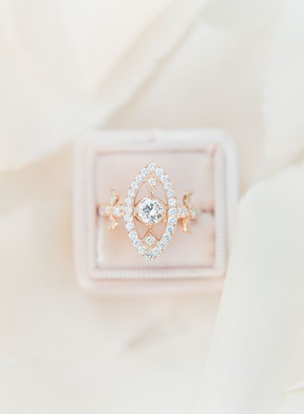 Try a non-traditional ring shape: www.stylemepretty... Photography: Sophie Epton...