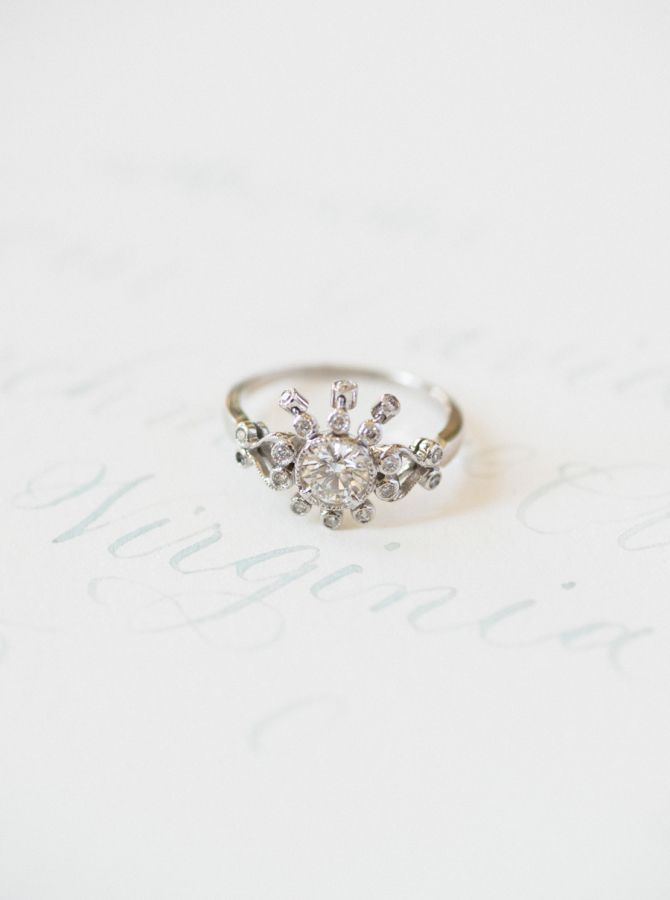 Unique diamond ring: www.stylemepretty... Photography: Shannon Moffit - www.shan...
