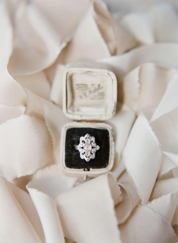 Unique diamond ring: www.stylemepretty...