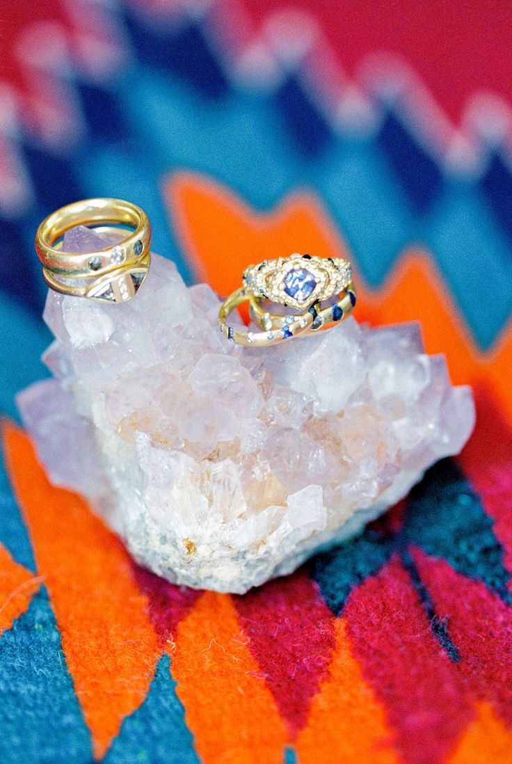 Unique gold band and topaz diamond: Photography: Elyse Hall Photography - elyseh...