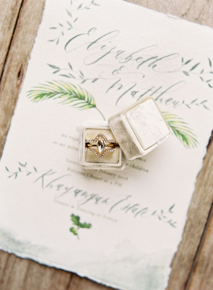 Unique marquise diamond ring: Calligraphy: Papers Ribbons - www.papersribbons.co...