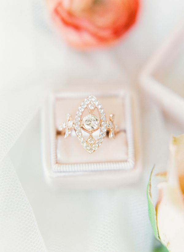 Unique one-of-a-kind engagement ring: www.stylemepretty... Photography: Sophie E...