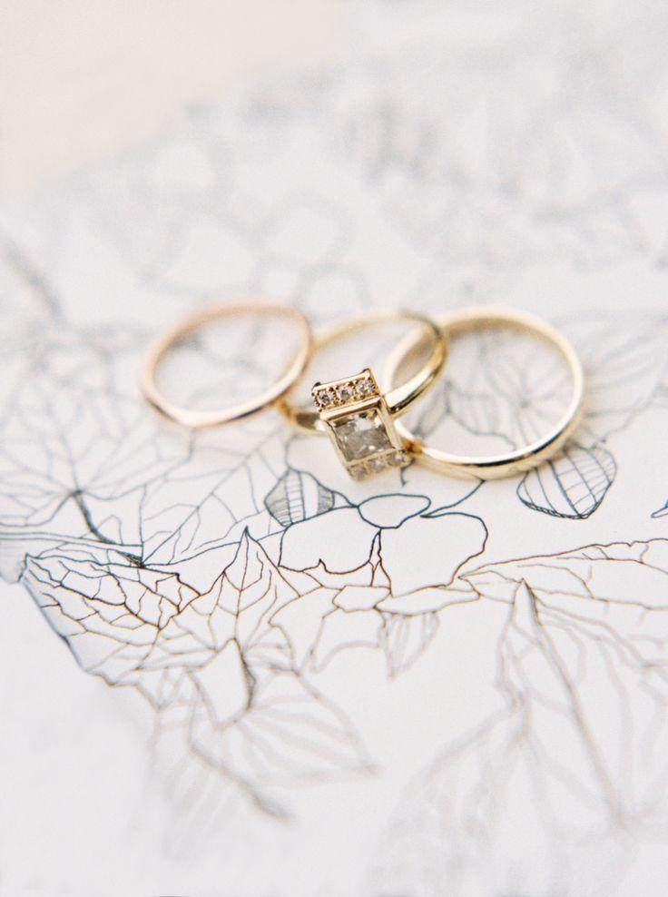Unique princess cut engagement ring: Wedding Dress: Rebecca Schoneveld - www.reb...