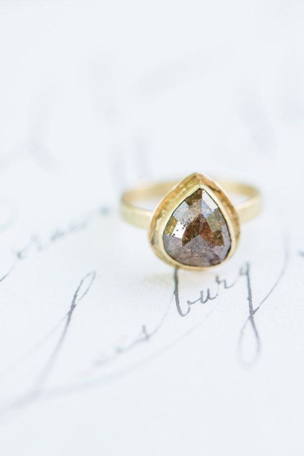 Unique vintage engagement ring: www.stylemepretty... Photography: Camille Cather...
