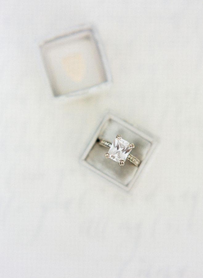 Vintage cushion engagement ring: www.stylemepretty... Photography: Emily Kathari...