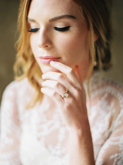Vintage diamond ring: www.stylemepretty... Photography: Perry Vaile - www.perryv...