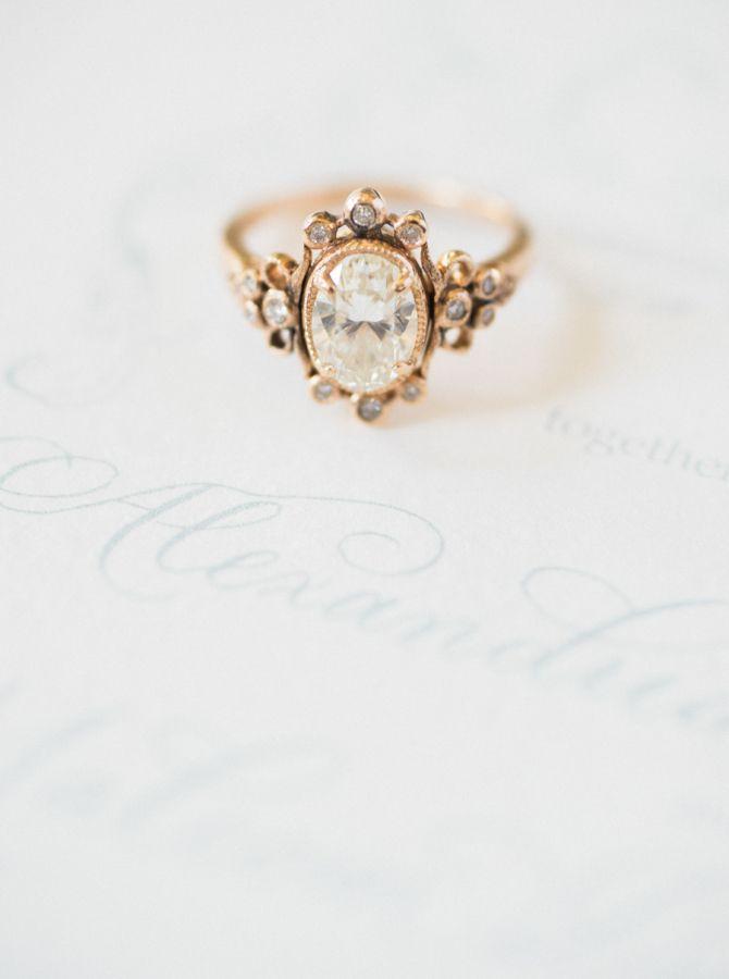 Vintage diamond ring: www.stylemepretty... Photography: Shannon Moffit - www.sha...