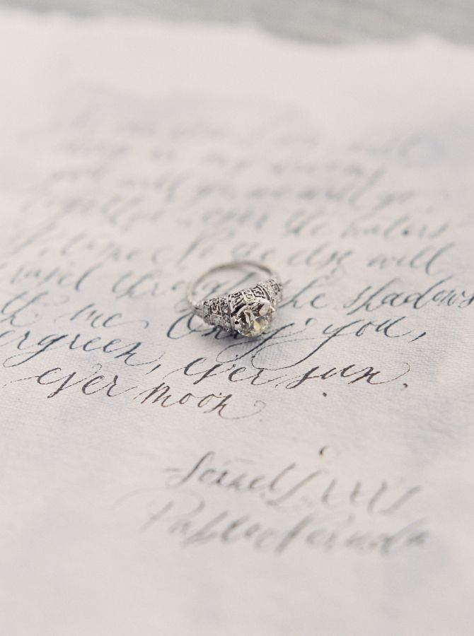 Vintage engagement ring: www.stylemepretty... Photography: Simply Sarah - simply...