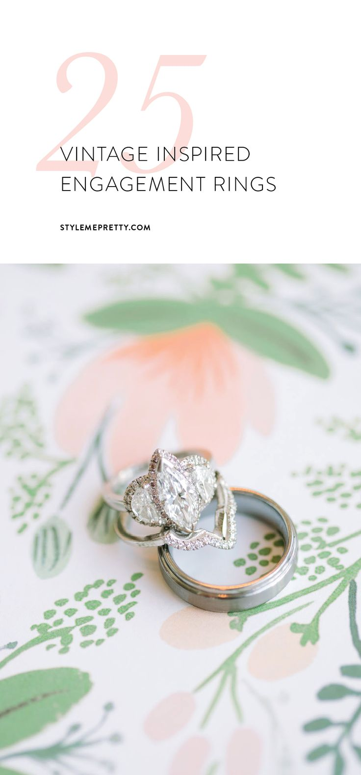 Vintage engagement rings that will stand the test of time. via Style Me Pretty