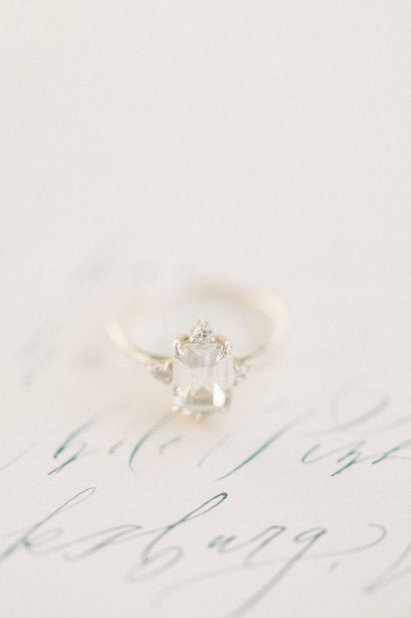 Vintage gold diamond ring: www.stylemepretty... Photography: Elizabeth Fogarty -...