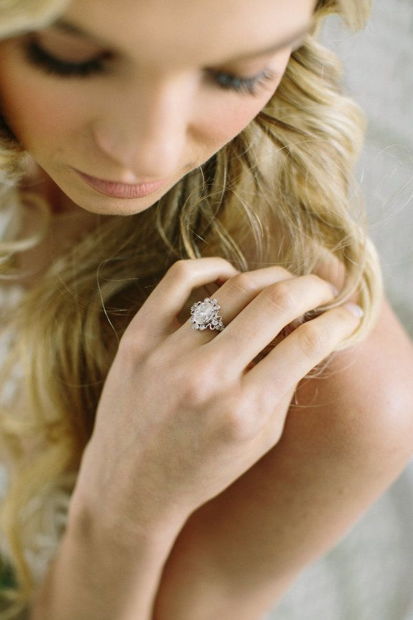 Vintage oval-cut engagement ring: www.stylemepretty... Photography: Ellen Ashton...