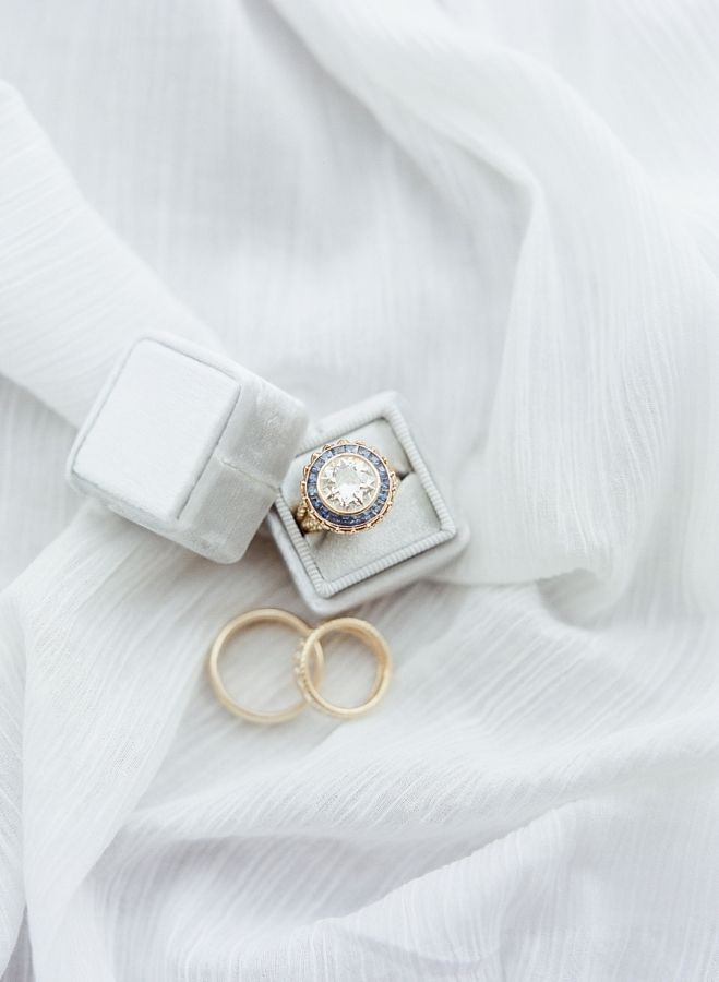Vintage round-cut engagement ring: www.stylemepretty... Photography: Julie Paisl...