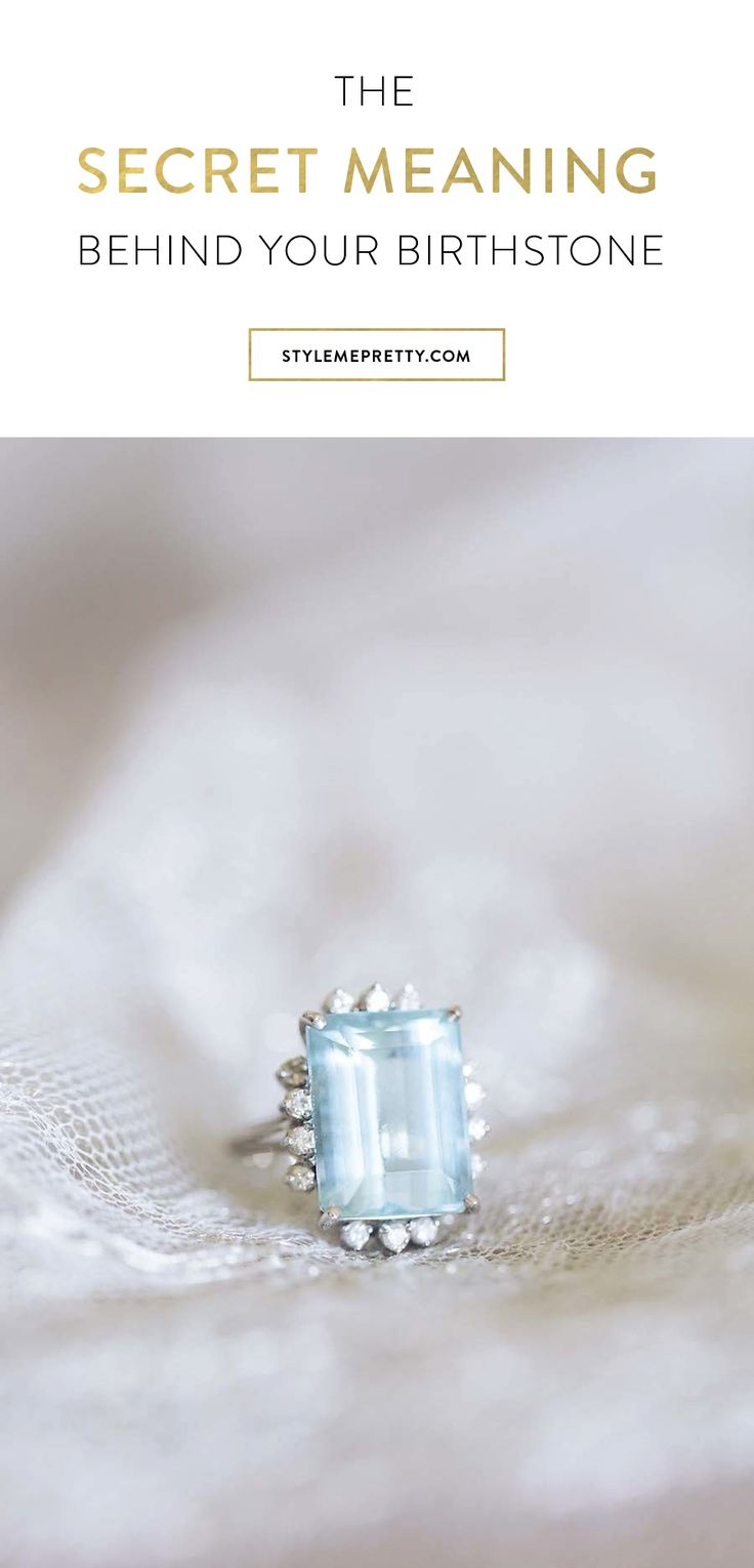 What does your birthstone say about you? via Style Me Pretty