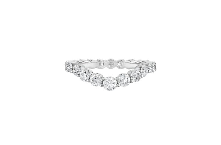 With it's wave design, the Harry Winston Diamond Wave Wedding Band will create o...