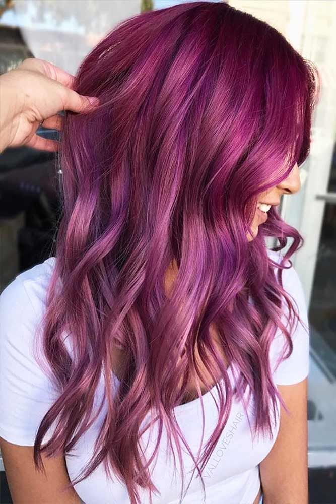 18 Best Winter Hair Colors � Burgundy Hair Colors for Winter Holidays Picture ...