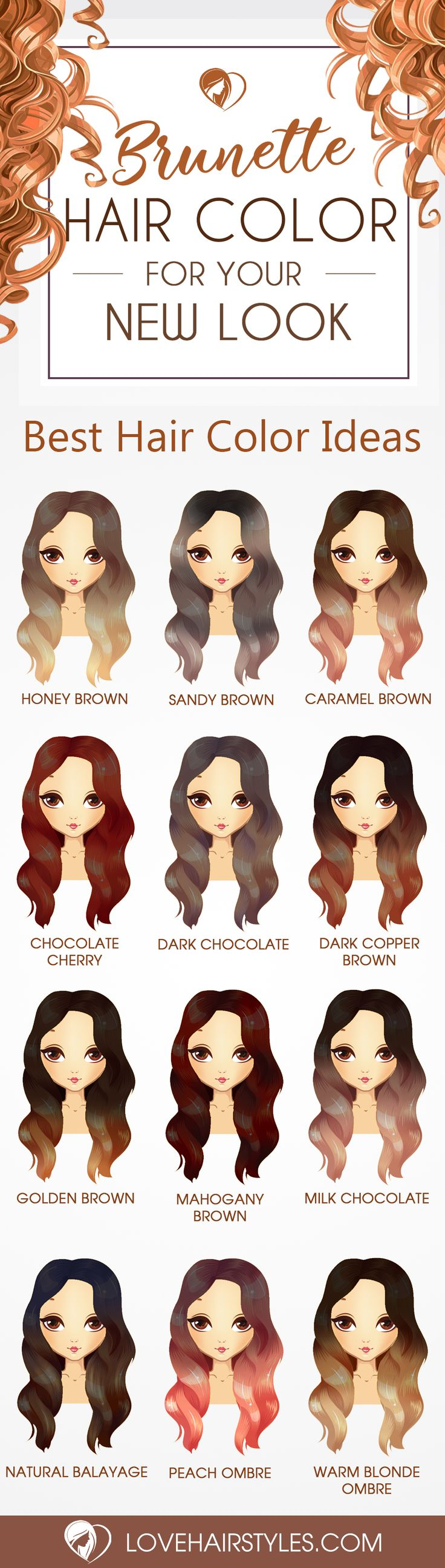 24 Beautiful Color Choices for Stunning Brunette Hair ❤ Beautiful Color Choice...
