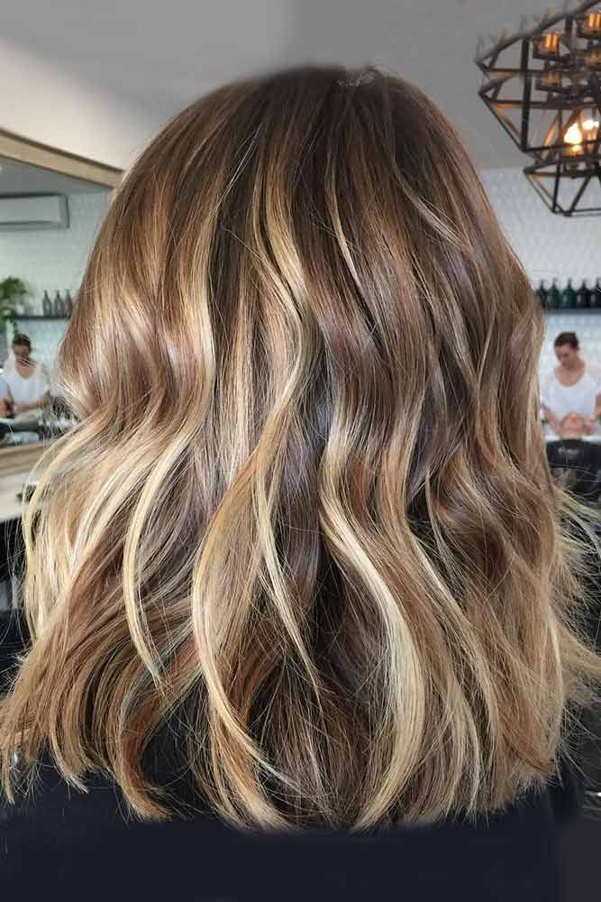 Brown hair with blonde highlights brings out the personality of every woman by h...