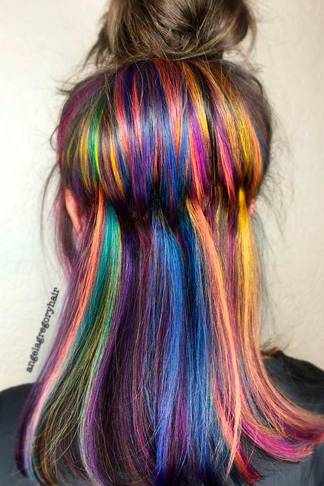 Chic Hidden Rainbow Hair is the Magic You Need For 2017 ★ See more: lovehairst...