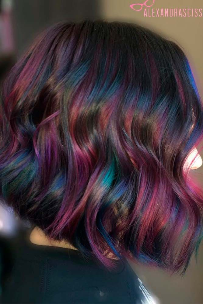 Rainbow Hair Ideas for Brunette Girls — No Bleach Required ★ See more: loveh...