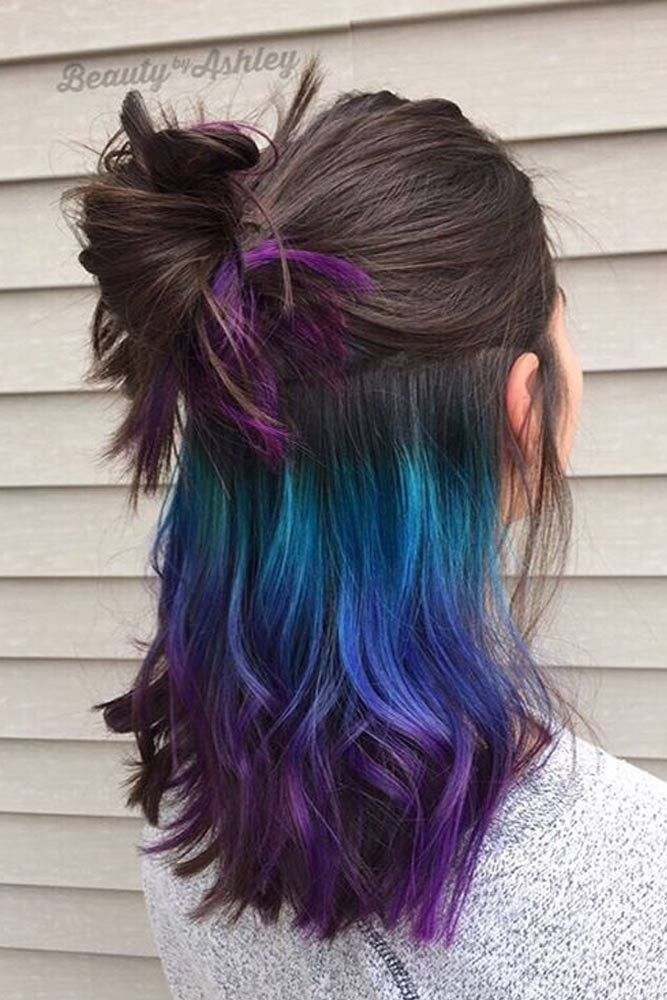 Today rainbow hair is available for brunettes, as well, and there is no need to ...