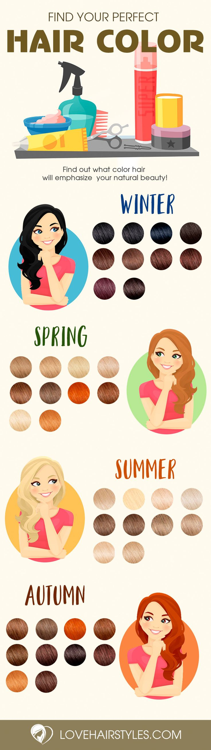 Trendy Hair Colors for Every Season 2017...