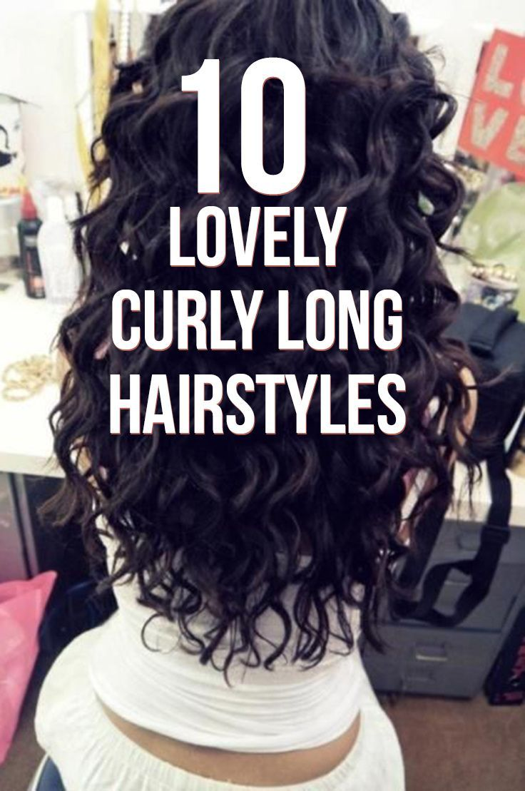 10 LOVELY CURLY LONG HAIRSTYLES // A curly hairstyle can easily accentuate your ...