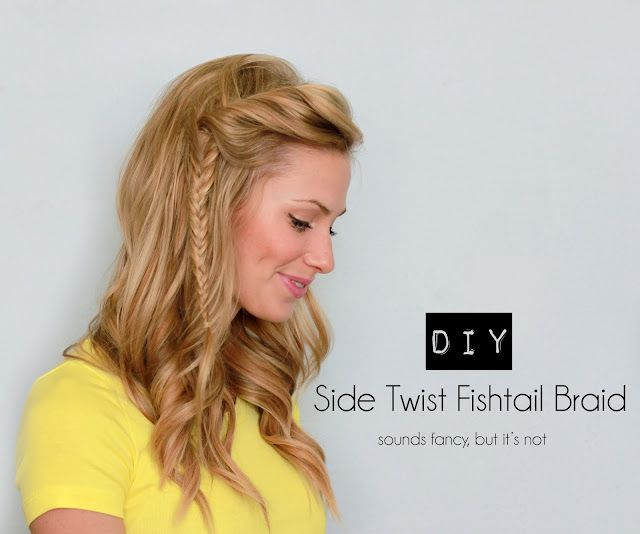 A fun, mini take on the popular fishtail braid, with a twist (literally) to it. ...