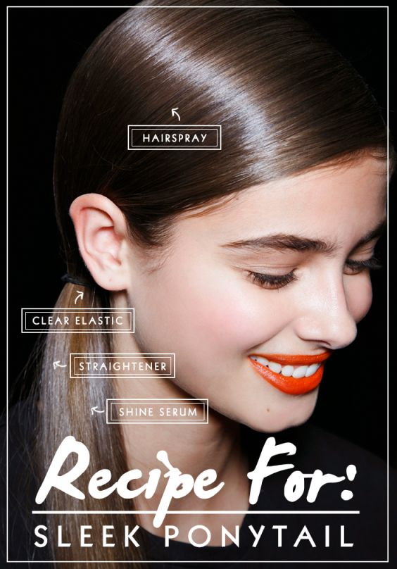 A polished low ponytail has been a favorite style on the NYFW Fall 2014 runways ...