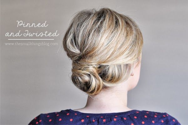 A pretty pinned and twisted updo from our friend Kate Bryan at the Small Things ...