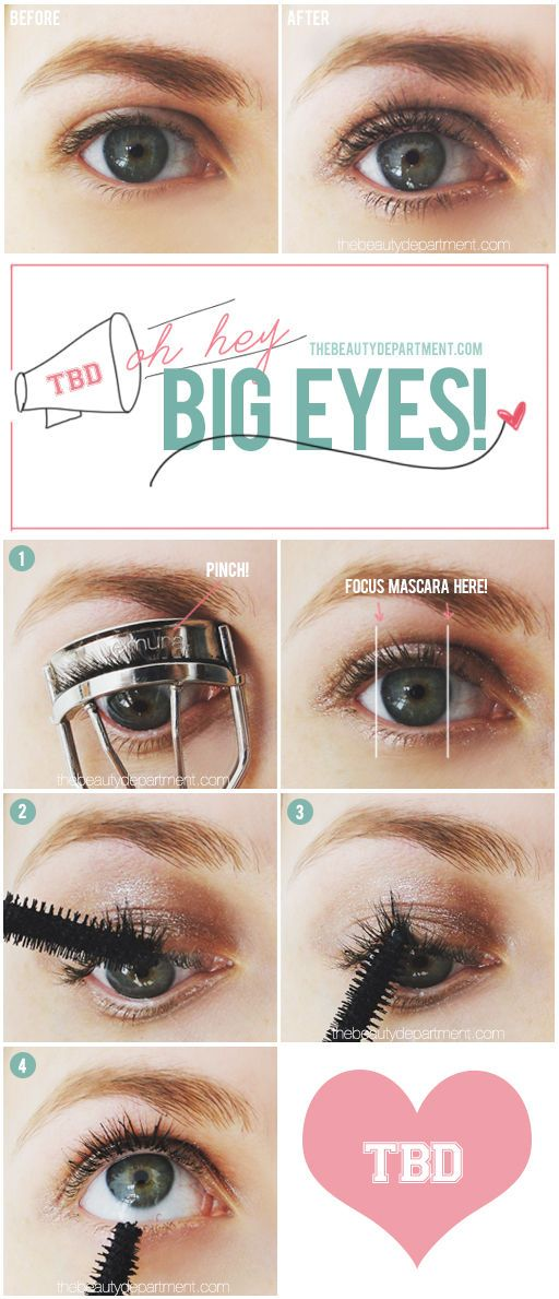A quick trick to make your eyes look bigger....