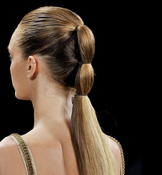 A simple way to dress up a ponytail.