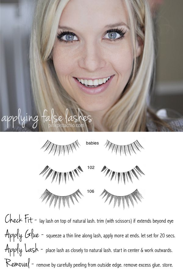 Are you intimidated by false lashes? This blogger gives you easy how-tos. Click ...
